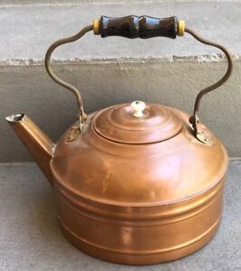 Antique Revere Copper Tea Kettle