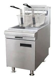 Commercial Kitchen Countertop Natural Gas Fryer 60 000 Btu