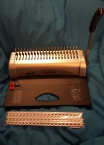 Kenley Binding Machine Paper Punch Binder With Starter Combs Set 21 Hole 450