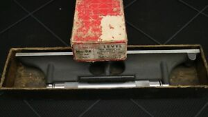 Nice Starrett 12 Inch No 98 Level With Ground Vial great Condition
