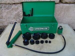 Greenlee 7310 Hydraulic Knockout Punch And Die Set 1 2 To 4 5 21 5
