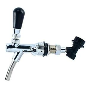 Draft Beer Faucet Flow Controller Chrome Plating Shank G5 8 Tap For Kegerator