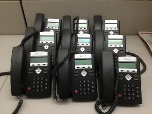Lot Of 9 Polycom Ip321 Ip 321 Telephone Office Voip Ph608ds