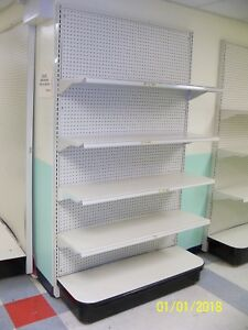 Quality Free Standing 4 Wide Commercial Store Shelving Display With 4 Shelves