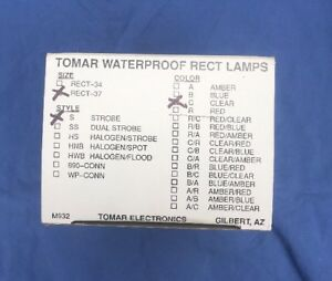 Tomar Waterproof Rect Lamps Rect 37 Strobe And Clear