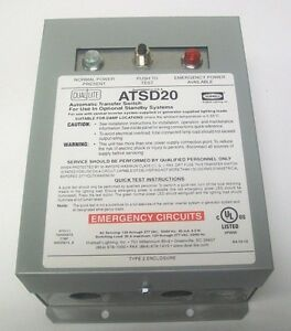 Dual lite Atsd20 20 Amp Auxiliary Transfer Switch New In The Box