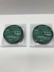 Lot Of 2 3m 01991 Green Corps Reinforced Weld Grinding Wheel 1991 5 box 10disc