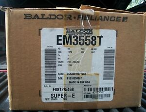 New Old Stock Em3558t 2 Hp 1755 Rpm New Baldor Electric Motor
