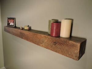 Barn Wood Fire Place Mantel Floating Rustic Reclaimed Salvaged Beam 4x6 5 L