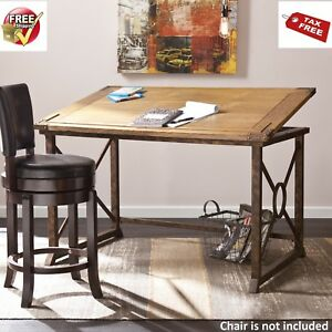 Drafting Table Desk Art Industrial Tilt Top Drawing Mechanical Architectural
