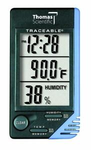 Thomas Traceable Thermometer clock 1 Degree C Accuracy