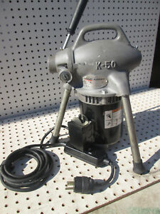 Ridgid K 50 Sectional Drain Cleaner Machine 115v