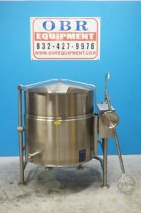 Cleveland Electric 80 Gallon 2 3 Tilt Kettle Self Contained Model Kel 80t