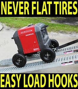 Wheel Kit Cart For Honda Generator Eu3000is All Terrain Solid No Flat Free Tires