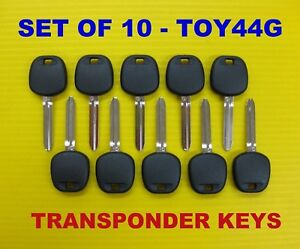 New Set Of 10 Transponder Chip Key Blank G Stamp Toy44g 89785 08040 Fits Toyota