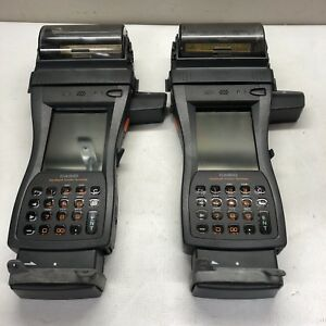 Lot Of 2x Casio It 3100m55u Handheld Printers No Chargers