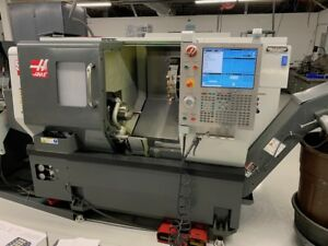 Used Haas St 10t Cnc Turning Center Lathe W Servo 300 Barfeed Sl 10 St 20 2013