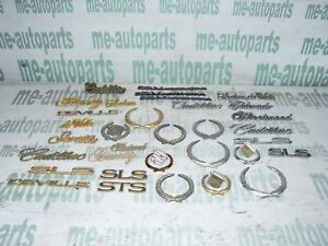 Assorted Lot Of Chrome Gold Cadillac Badge Emblems Crest Wreath Approx 35