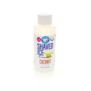 Coconut Snow Cone And Hawaiian Shaved Ice Unsweetened Flavor Concentrate 4 Fl Oz