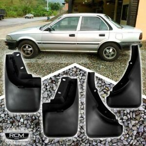 Fit For 88 92 Toyota Corolla Front Rear Mud Flaps Guards Mudguard
