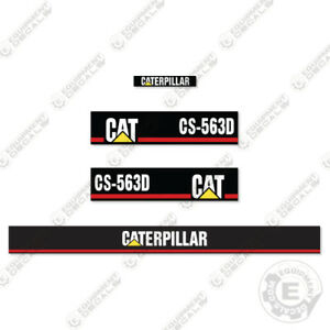 Caterpillar Cs 563 D Vibratory Compactor Decal Kit Equipment Decals Cs563d