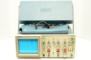 Tektronix 2215a Analog Oscilloscope Two Channels 60mhz With Probes Power Cable
