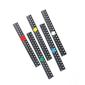 100pcs 5 Colors Smd 0603 Led Light Red Green Blue Yellow White Assotment Kit