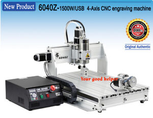 Usb 4 Axis 6040 1 5kw Mach3 Cnc Router Engraver Cutting Milling Wood Machine Kit