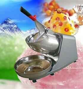 300w Electric Ice Shaver Crusher Machine Snow Cone Maker Shaved Icee Device Us