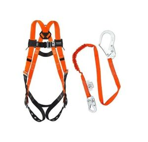 Miller Full Body Harness And Miller Shock Absorbing Lanyard Combo