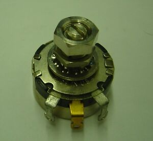 lot Of 10 1k Ohm 43c2 Locking Potentiometer Clarostat Linear Taper Locking