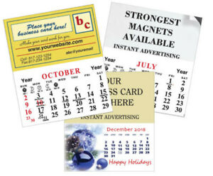 50 2019 Magnetic Business Card Calendars