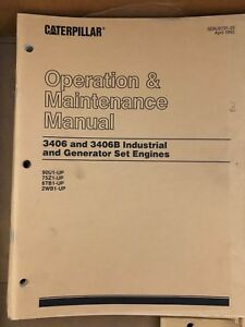 Caterpillar Cat Manual 3406 3406b Industrial Generator Set Engines