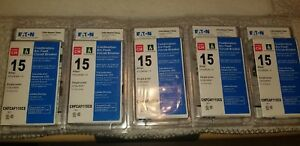 Lot Of 5 New Circuit Breaker Eaton Chfcaf115cs Combination Afci 15 Amp 1 Pole