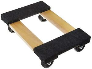 Rubber Swiveable Casters Hardwood Frame Movers Dolly 1000lbs Furniture Appliance
