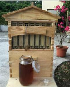 7pcs Upgraded Beekeeping Tool Hive Frames Beehive Wooden Brood Box M