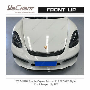 Carbon Splitter For 2017 2018 Porsche Cayman Boxster 718 Tca style Front Lip
