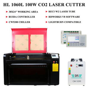 100w Co2 Laser Engraving Cutting Machine Engraver Cutter 37 x23 Cw5000 Chiller