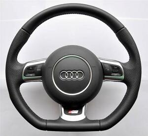 Audi S Line A3 a4 a5 a6 tt q5 q7 Flat Bottom Multifunction Steering Wheel_airbag