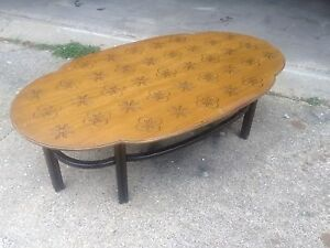 Vintage Henredon Mid Century Modern Thistle Coffee Table