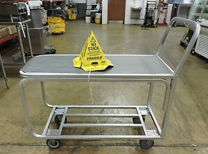 Silver Flat Top Produce Cart