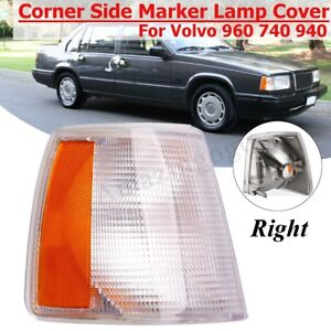 For Volvo 740 940 960 Front Right Parking Corner Turn Signal Clear Light Cover