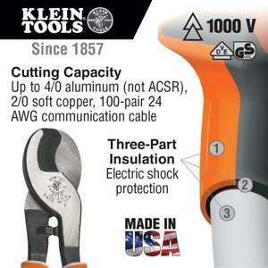 Klein Tools 63050 eins Electrician s Insulated High leverage Cable Cutter