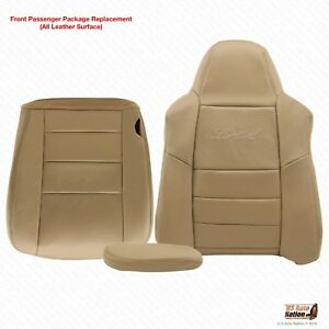 2005 Ford Excursion Limited Passenger Bottom Top Armrest Leather Seat Cover Tan