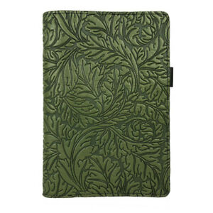 Acanthus Leaf Oberon Design 6 x9 5 Small Green Leather Portfolio Notepad Cover