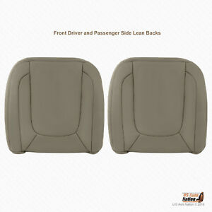 2004 2005 Dodge Ram Laramie Front Driver And Passenger Tops Leather Cover Tan
