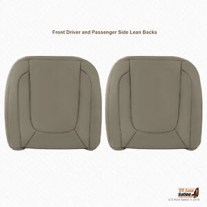 2004 Dodge Ram 1500 2500 3500 Laramie Driver Passenger Lean Backs Cover Taupe