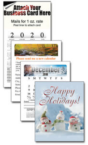 100 2019 Magnetic Business Card Calendars Mpc Holiday Snowmen