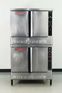 Used Blodgett Dfg 200 Double Deck Gas Convection Oven Full Size