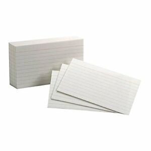 Esselte Corporation Oxford Index Cards 3x5 Ruled White set Of 50